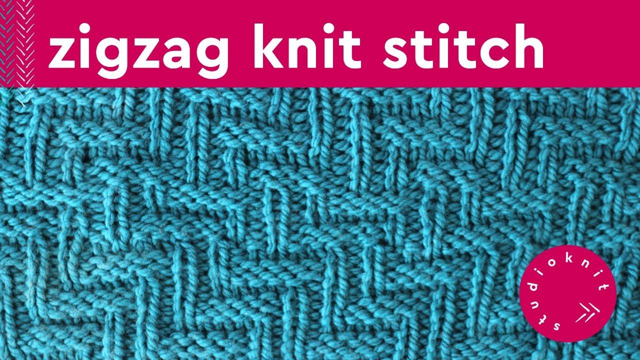 feefa9786ce DIAGONAL CHEVRON ZIGZAG Knit Stitch Pattern - YouTube