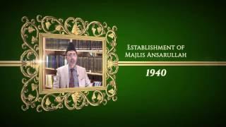 Achievements of Hazrat Musleh Ma'ood: 1940 The Establishment of Majlis Ansarullah