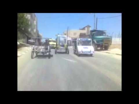 Race between solar cars in palestine