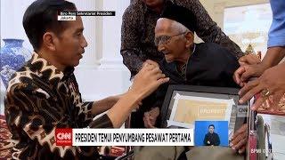 Presiden Jokowi Temui Nyak Sandang, Penyumbang Pesawat Pertama
