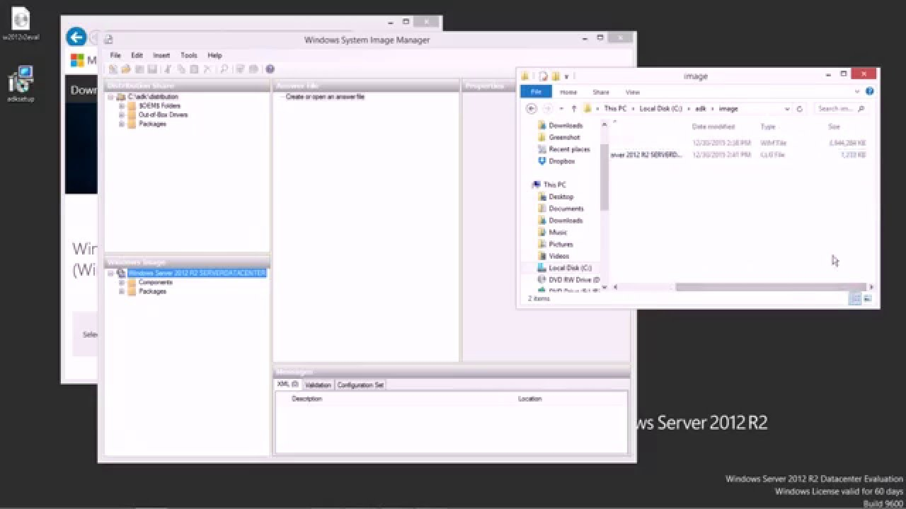 Using Windows ADK to create an autounattend xml file in Windows Server 2012  R2