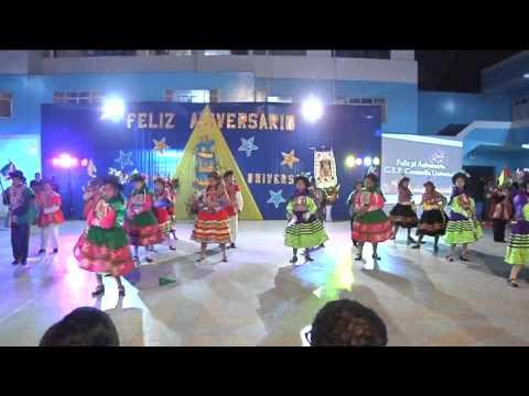 """Danza religiosa de Andahuaylas -- Apurímac """"Santu Qarquy"""",  alumnos de 1ero. Y 2do. de Sec."""