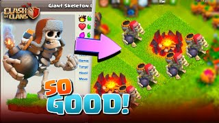 GIANT SKELETON IS OVER POWERED! Clash Of Clans Halloween Update!