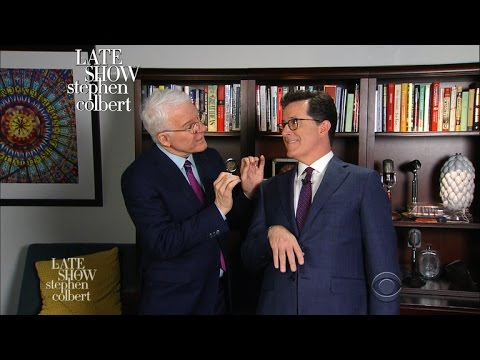 Thumbnail: Steve Martin Teaches Stephen Colbert How To Comedy