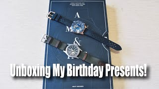 Unboxing My Birthday Presents!  (Two Watches And A Book!)