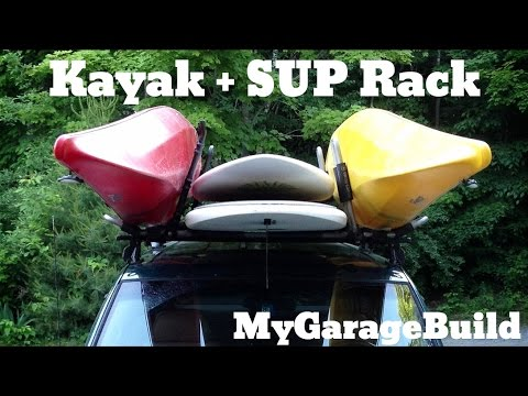 Stand Up Paddle Board and Kayak Roof Rack DIY Custom Home Made
