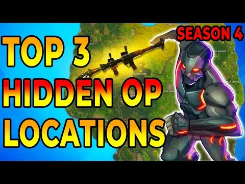 *NEW* BEST 3 HIDDEN OP PLACES to LAND For EASY WINS and LOOT (Fortnite How To Win Tips) Season 4