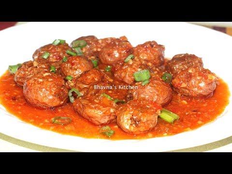 Schezwan Baby Potatoes Manchurian Air Fryer  Recipe  Bhavna&39;s Kitchen