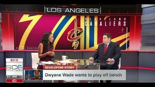 Dwyane Wade Wants to Play Off The Bench | Oct 23, 2017