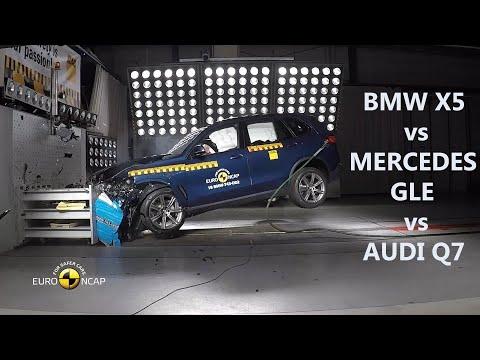 BMW X5 vs MERCEDES GLE vs AUDI Q7 Crash Test comparison, witch GERMAN SUV is best ?? (mercedes-benz)