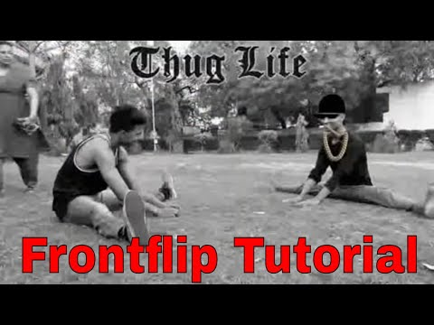 front flip Tutorial step by step  | how to front flip or Webster | stand landing in front flip