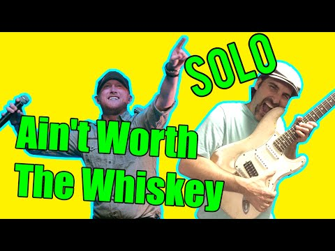 How To Play - Cole Swindell - Ain't Worth The Whiskey - Guitar Solo Lesson