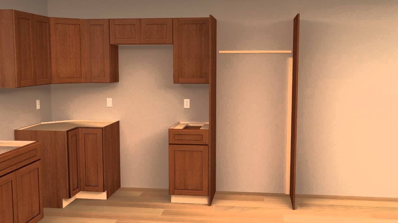 How To Install Refrigerator Cabinet End Panel