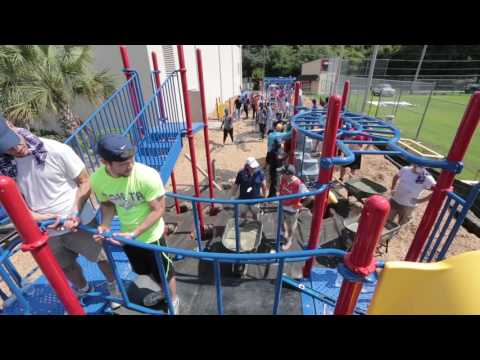 Gulfstream Volunteers Build Community Playground in Two Days