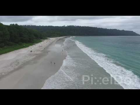Radhanagar Beach Aerial Stock Footage - Asia's best beach