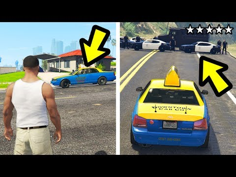 WHAT HAPPENS IF YOU GET A WANTED LEVEL IN A TAXI? (GTA 5)
