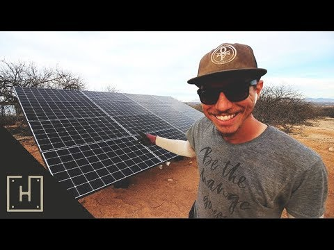 SOLAR PANELS ARE MOUNTED! Off Grid Solar Installation Day 4
