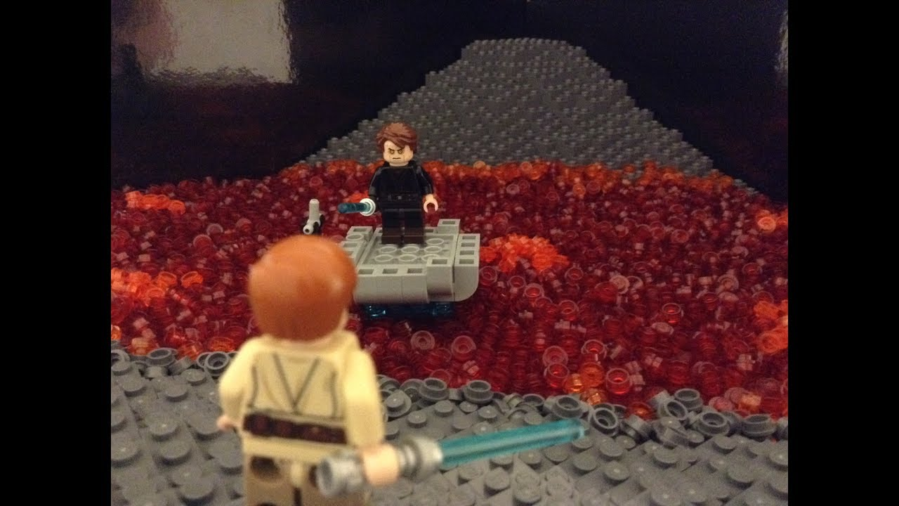 Lego Duel On Mustafar Revenge Of The Sith Youtube