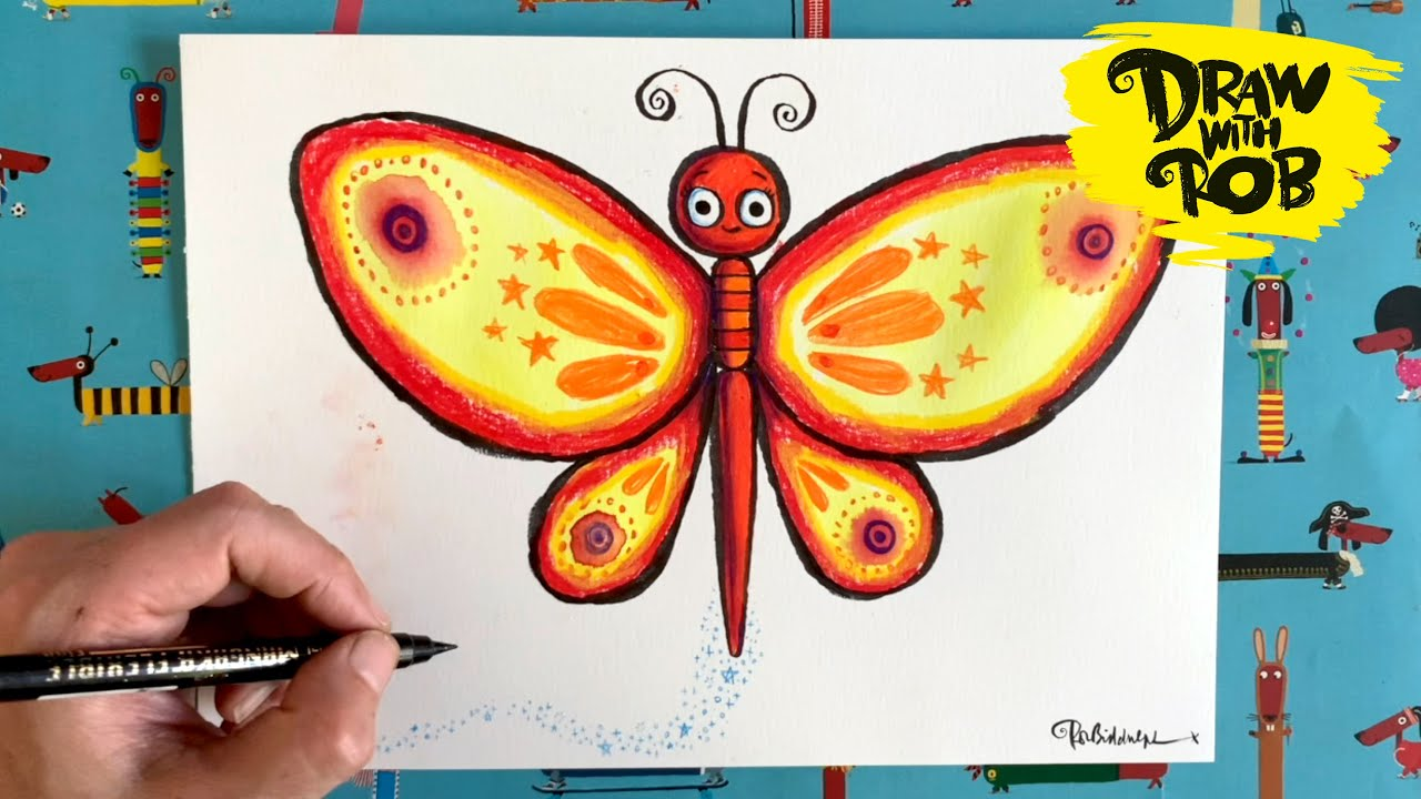 #DrawWithRob 32 Butterfly