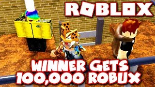 FIRST PERSON TO BEAT THIS OBBY WINS 100,000 ROBUX!! *MY BIGGEST BET EVER!* (Roblox)