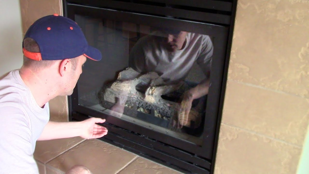 Propane Fireplace Cleaning How Open And Remove To Clean The Glass Cover On A Gas