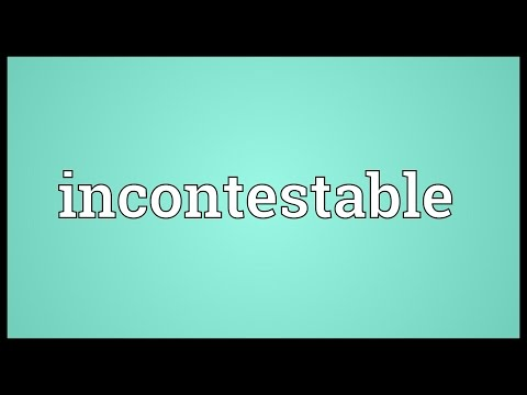 Header of incontestable