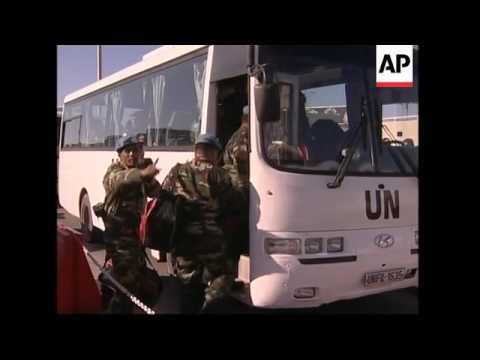 Malaysian troops arrive in Beirut to join int peacekeeping force