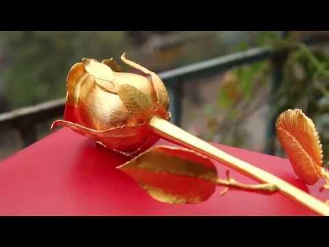 Quy trình chế tác bông hoa hồng mạ vàng 24K tại Việt Nam bởi Karalux