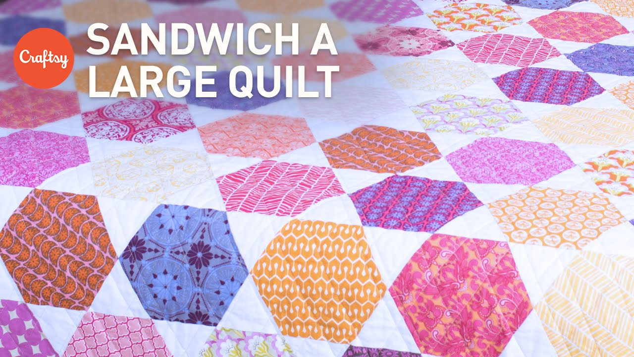 Easy Way to Baste (Sandwich) a Large Quilt | Quilting Tutorial ... : basting quilt - Adamdwight.com