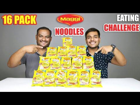 16 PACKS MAGGI NOODLES EATING CHALLENGE | Noodles Eating Competition | Food Challenge