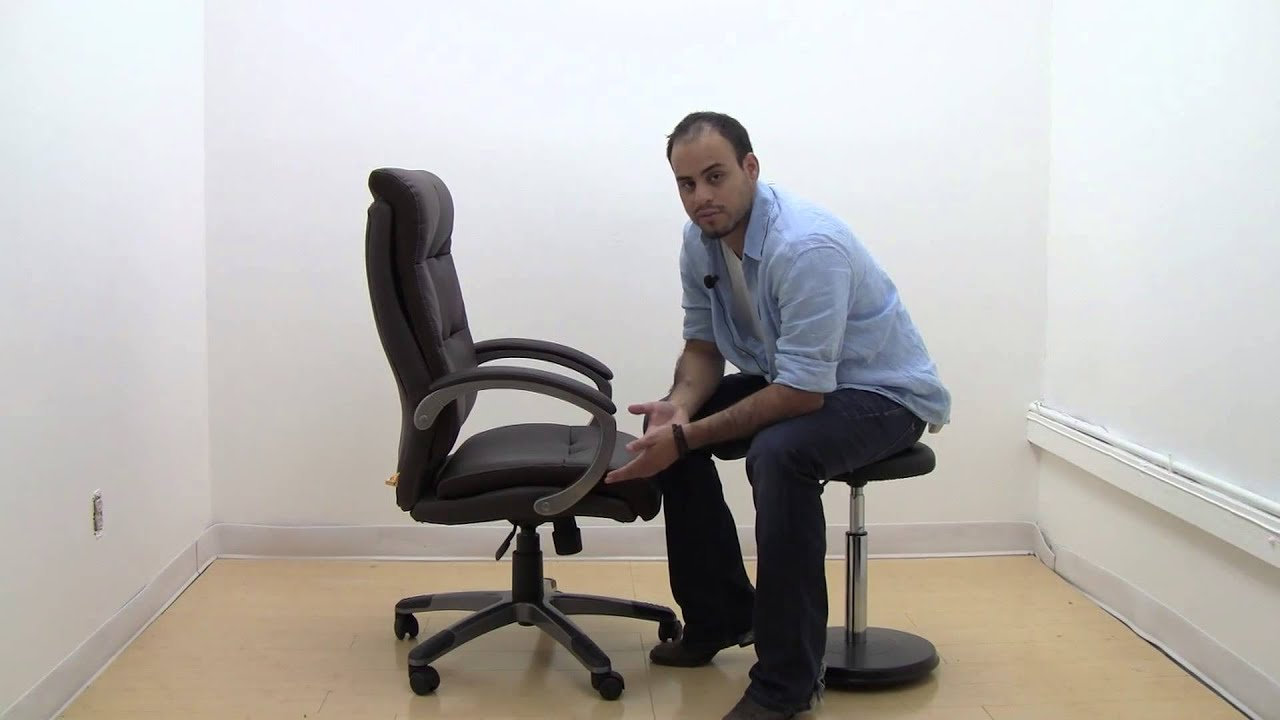 Superbe Boss_High Back Brown LeatherPlus Executive Chair