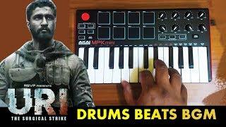 URI Drum Beat Bgm  | Cover By Raj Bharath | Shashwat Sachdev | Vicky Kaushal & Yami Gautam