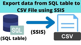 7 Export data from SQL to CSV File - SSIS