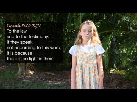 Isaiah 8:20 (KJV) - To the law and to the testimony... Musical Memory Verse