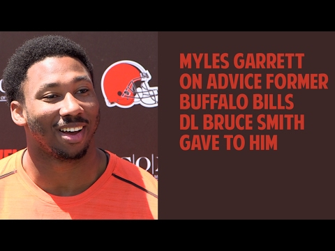 Myles Garrett talks about advice from Bruce Smith