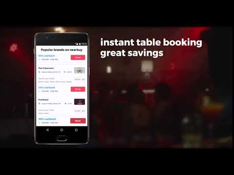 Introducing Instant Table Booking- nearbuy.com app