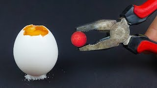 EXPERIMENT: Glowing 1000 Degree mini BALL vs EGG