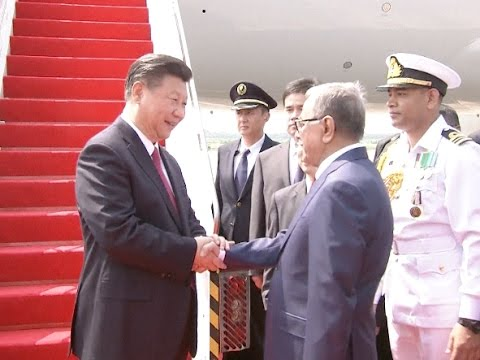 Chinese President Xi Arrives in Bangladesh for State Visit