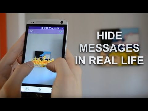 Hide augmented reality messages in real life