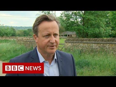 David Cameron: 'I feel desperately sorry for Theresa' - BBC News