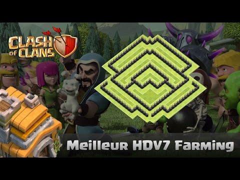 Village HDV7 Farming anti Geant et très bonne protection de l'élixir noir ! TH7 Anti Giant !