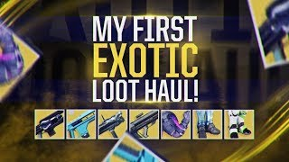 Destiny 2: MY EPIC EXOTIC LOOT HAUL! All My New Exotic Weapons & Armor!
