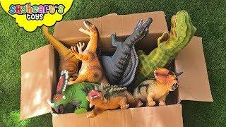 Dinosaur FIGHT in Box! Skyheart Toys dino battle t-rex roar giant kids jurassic