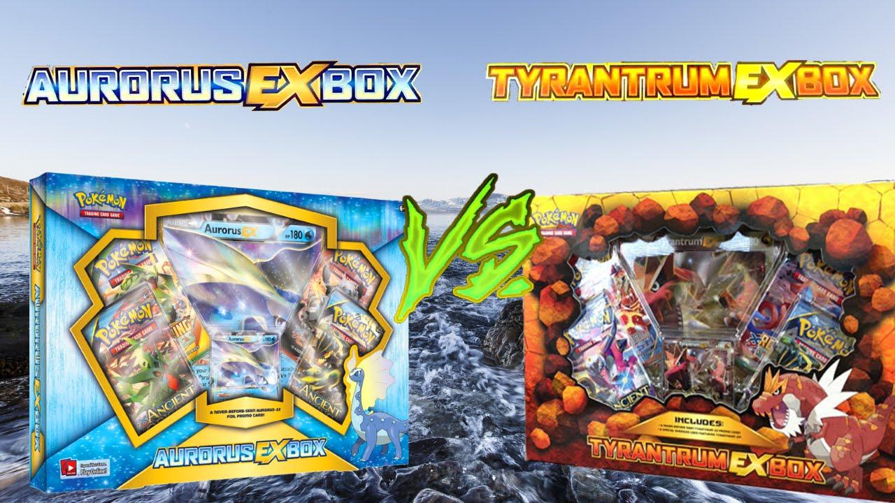 Pokemon Tyrantrum Ex Box Vs Aurorus Ex Box