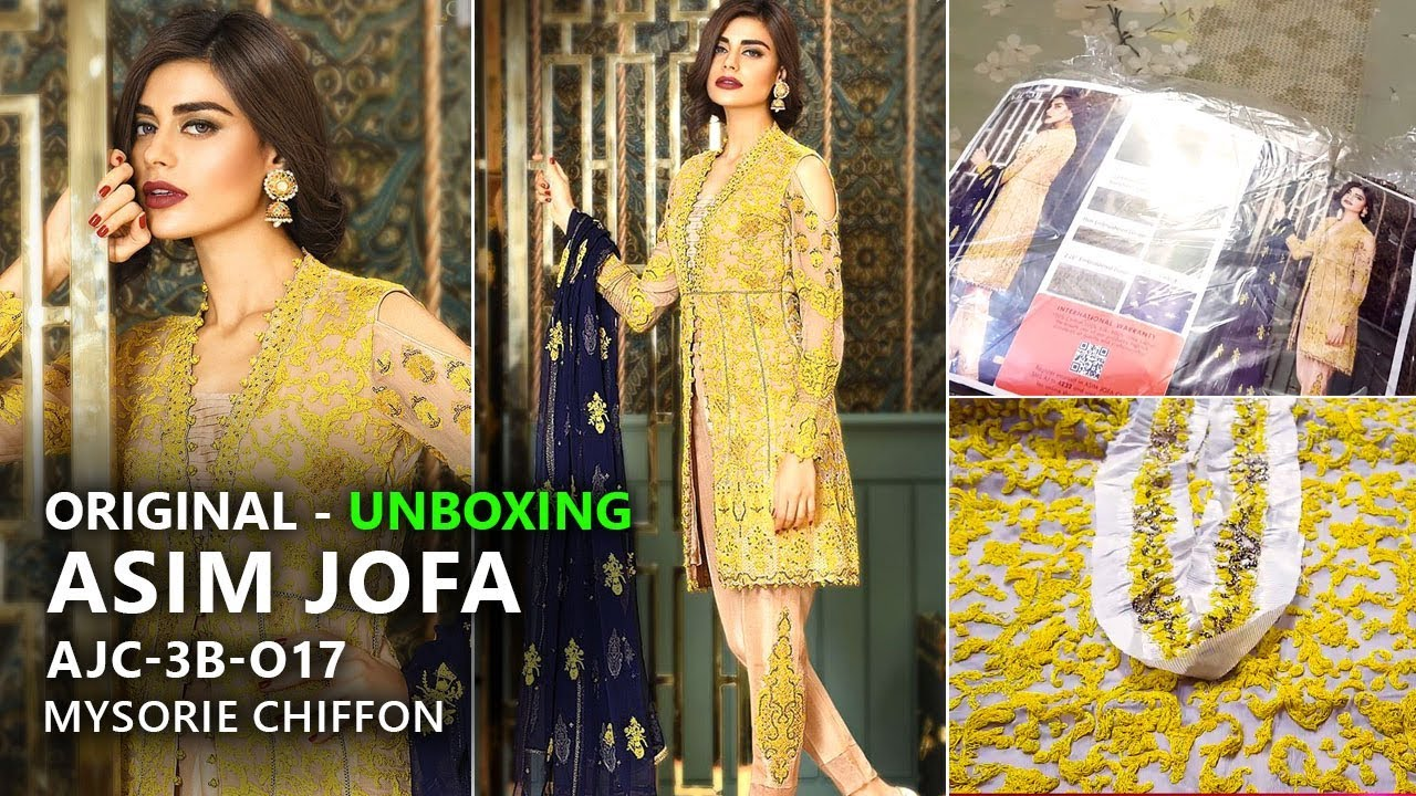 1587602e72 Asim Jofa Chiffon Collection 2017 - AJC 3B Mysorie Volume 1 - Pakistani  Wedding Dresses. Sara Clothes