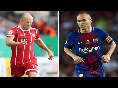 Sanchez, iniesta, robben… the 50 best players in europe whose contracts expire in 2018