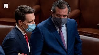 Calls Grow For Republican Senators Josh Hawley & Ted Cruz To Resign
