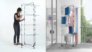 Nizza Maxi - Tower foldable laundry dryer by Metaltex