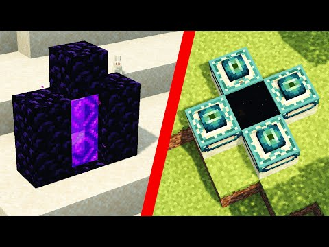 How To Make Tiny Nether And End Portals In Minecraft