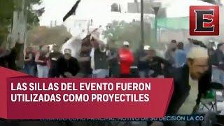 Nuevo enfrentamiento entre simpatizantes del PRD y Morena en Coyoacán